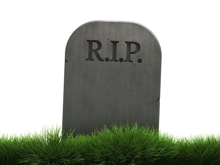 Graveyard tombstone image R.I.P. depitcting Google projects that have been killed