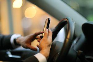 Phone while in a car
