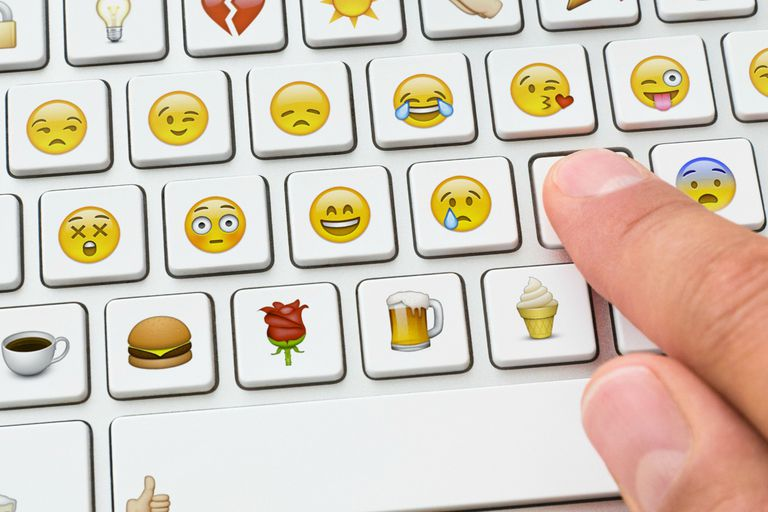 Picture Of A Keyboard With Emoticons Smileys And For Facebook