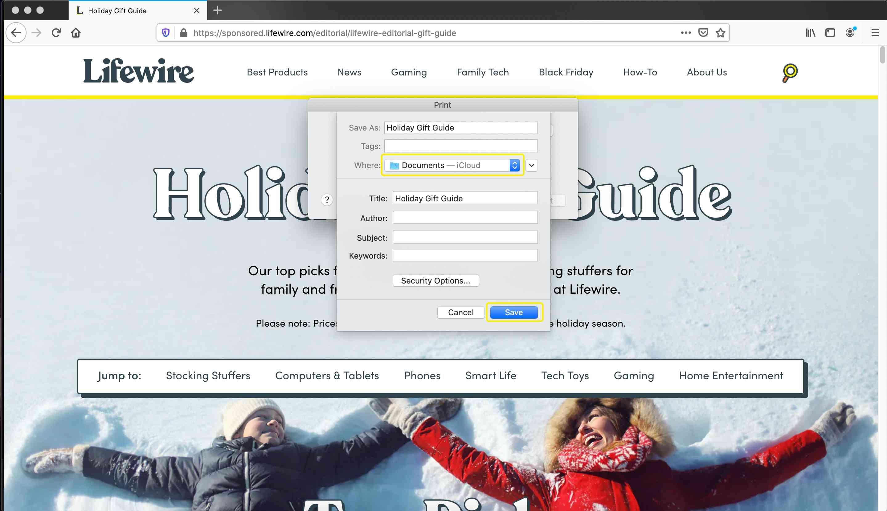 Firefox save PDF location