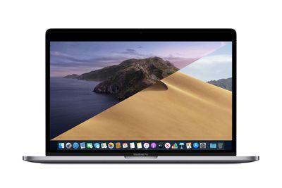 A MacBook Pro displaying its desktop.