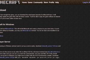 Minecraft download page