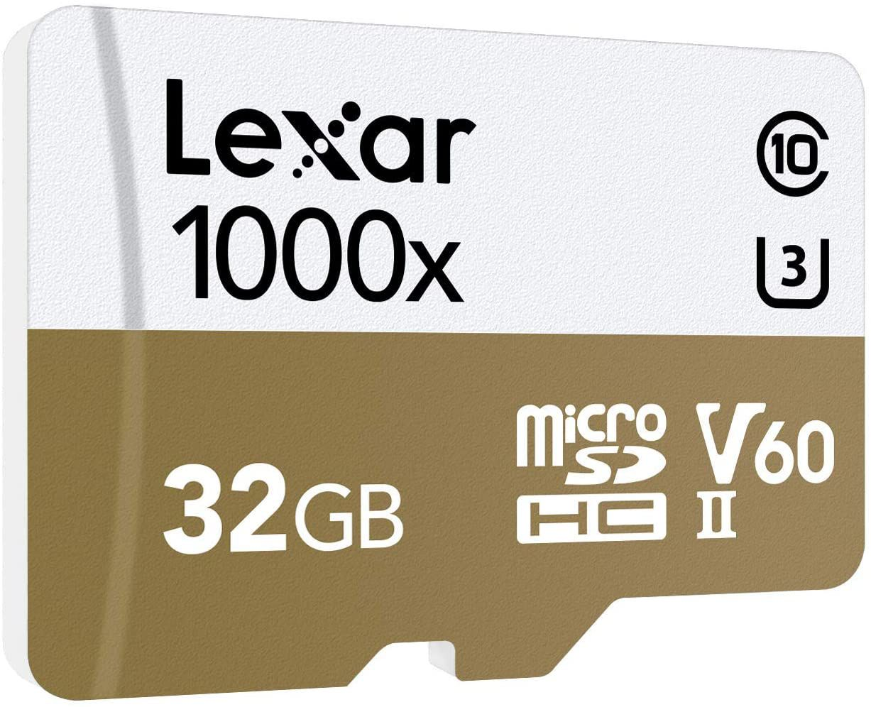 Lexar Professional 1000x 32GB microSDHC UHS-II Card (LSDMI32GCBNA1000A)