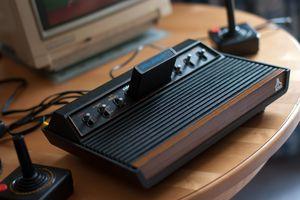 Vintage Atari 2600 video game system