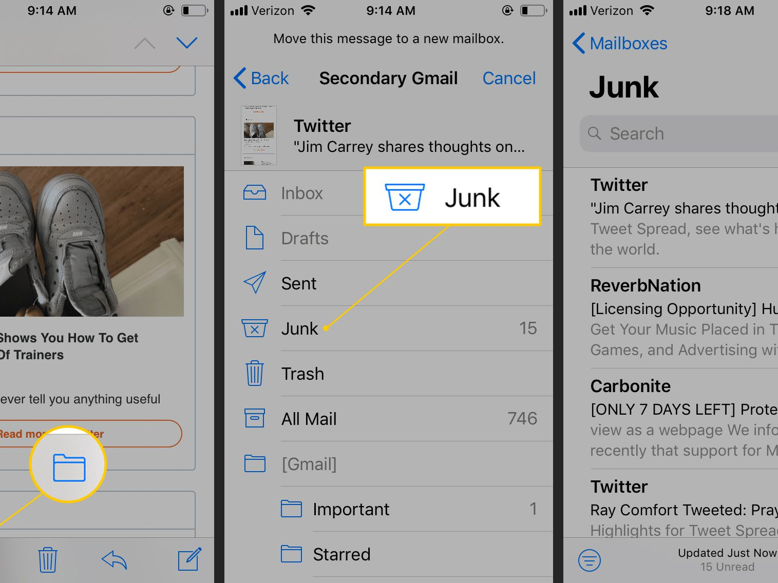 How to Mark Mail as Spam in iOS Mail