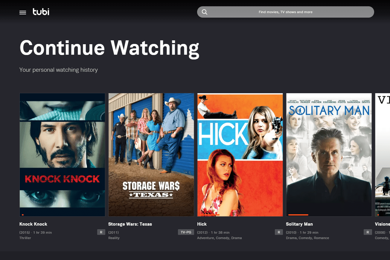Watch Free Online Movies and TV Shows at Tubi