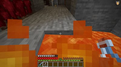 A fire potion providing protection in Minecraft.