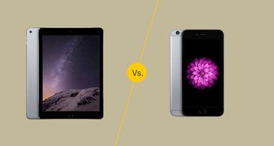 iPad Air 2 vs. iPhone 6 Plus