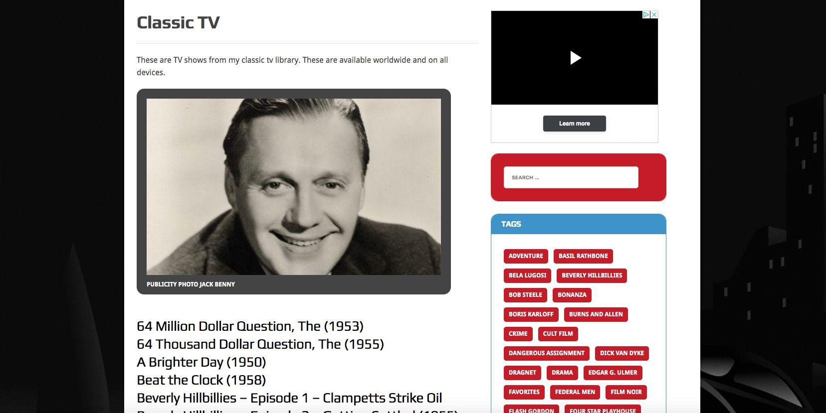 Retrovision website