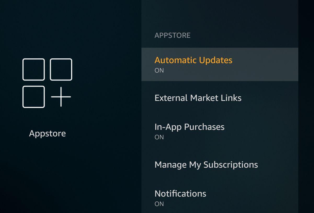 Automatic Updates - Amazon Fire TV stick