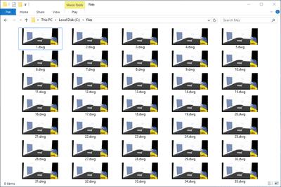 DWG files in a folder