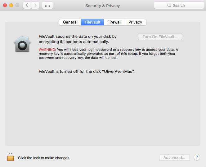 turning off FileVault as part of the process of resetting a Mac to factory settings