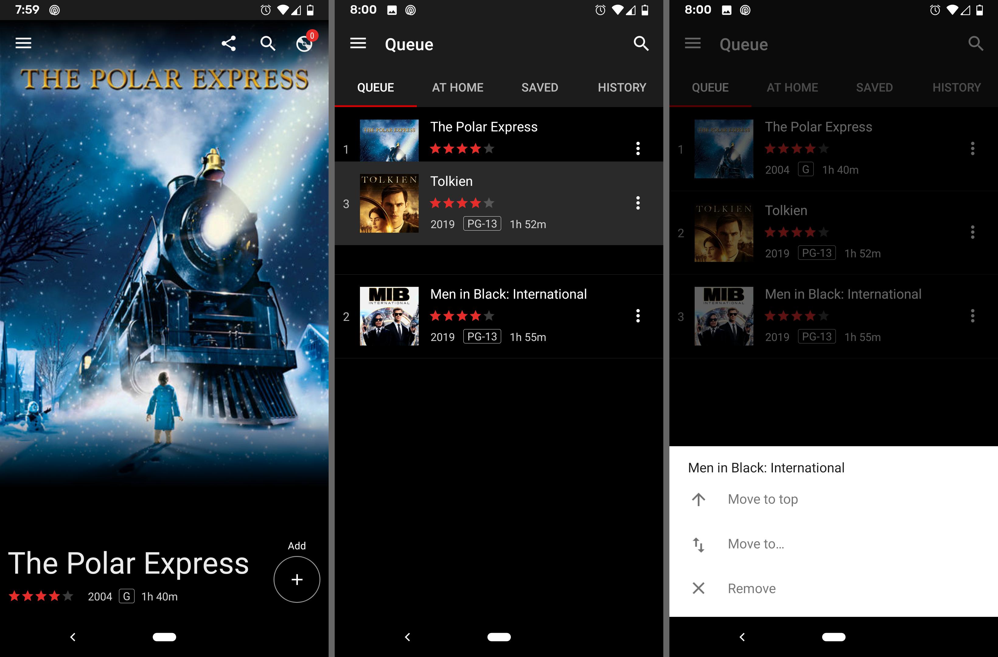 DVD Netflix Android app