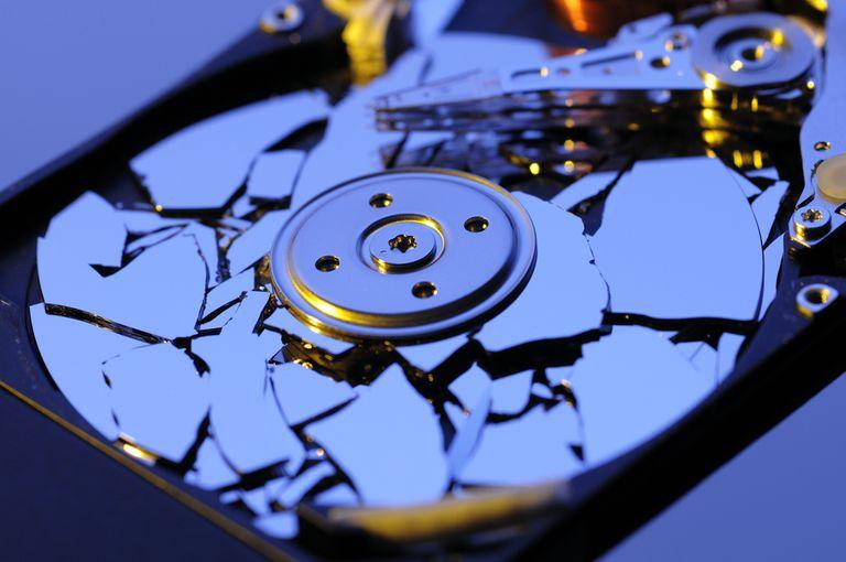 Broken computer hard drive