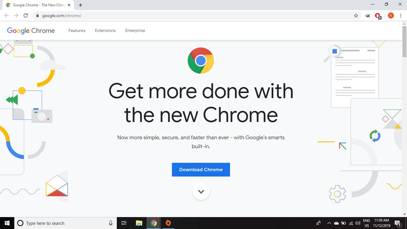 Download the Chrome Browser from Google.