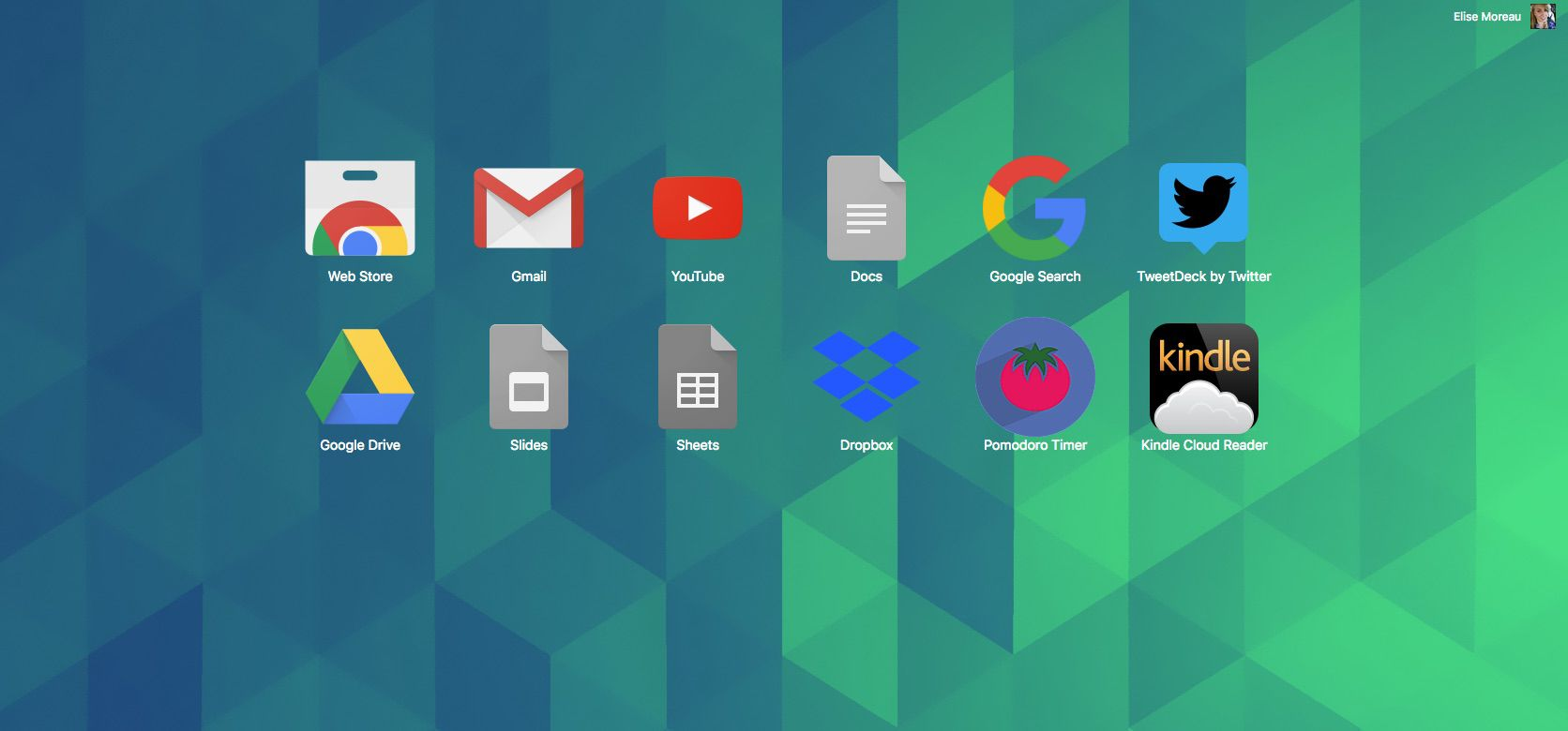 A screenshot of apps in Google Chrome web browser.