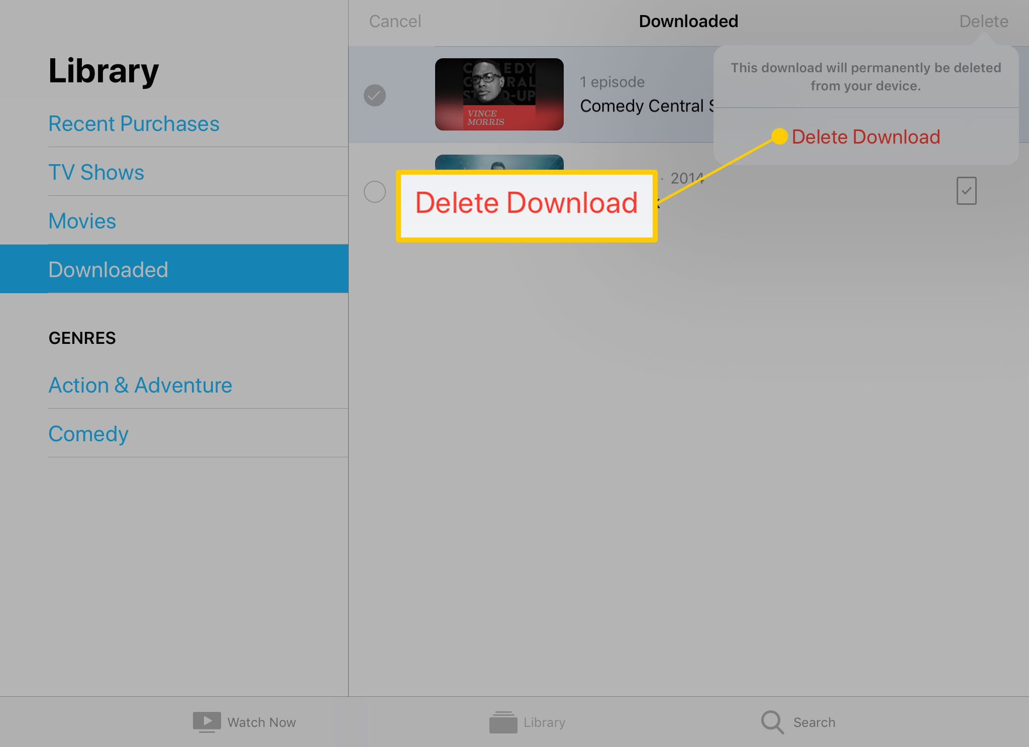 How to Delete Movies from iPad