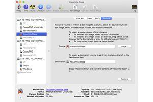 Disk Utility restore tab