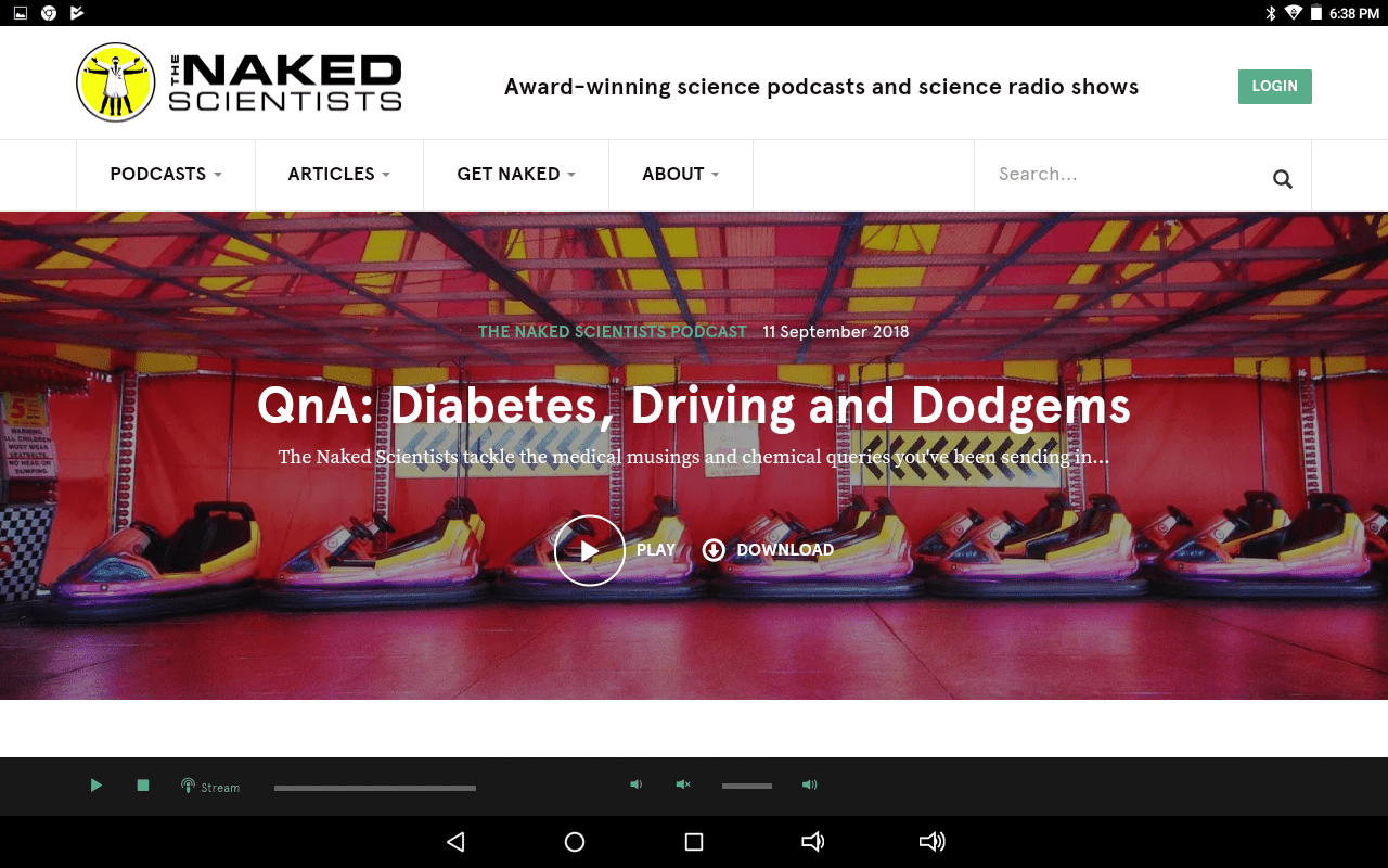 The Naked Scientists home page