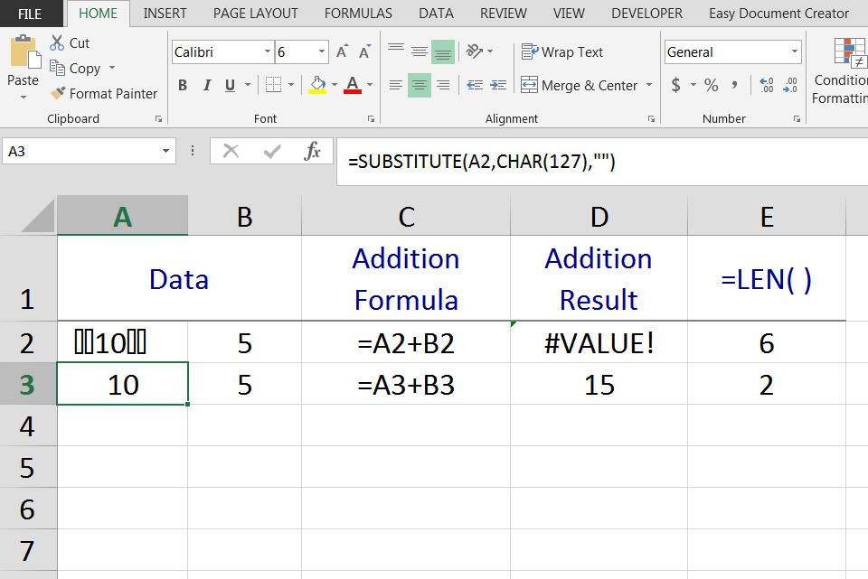 How to Remove Unicode Characters in Excel