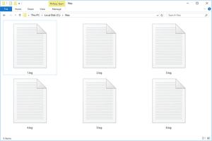 Several LOG files in Windows 10