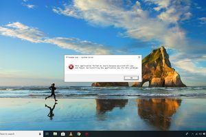 Msvcr110.dll error message on Windows 10 desktop