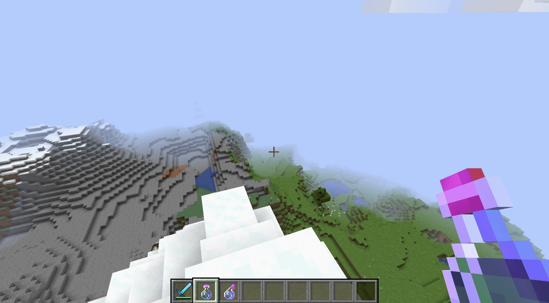 A luck potion in Minecraft.
