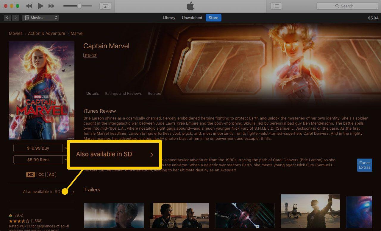 iTunes rental