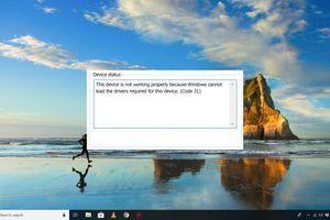 Code 31 error on Windows 10 desktop