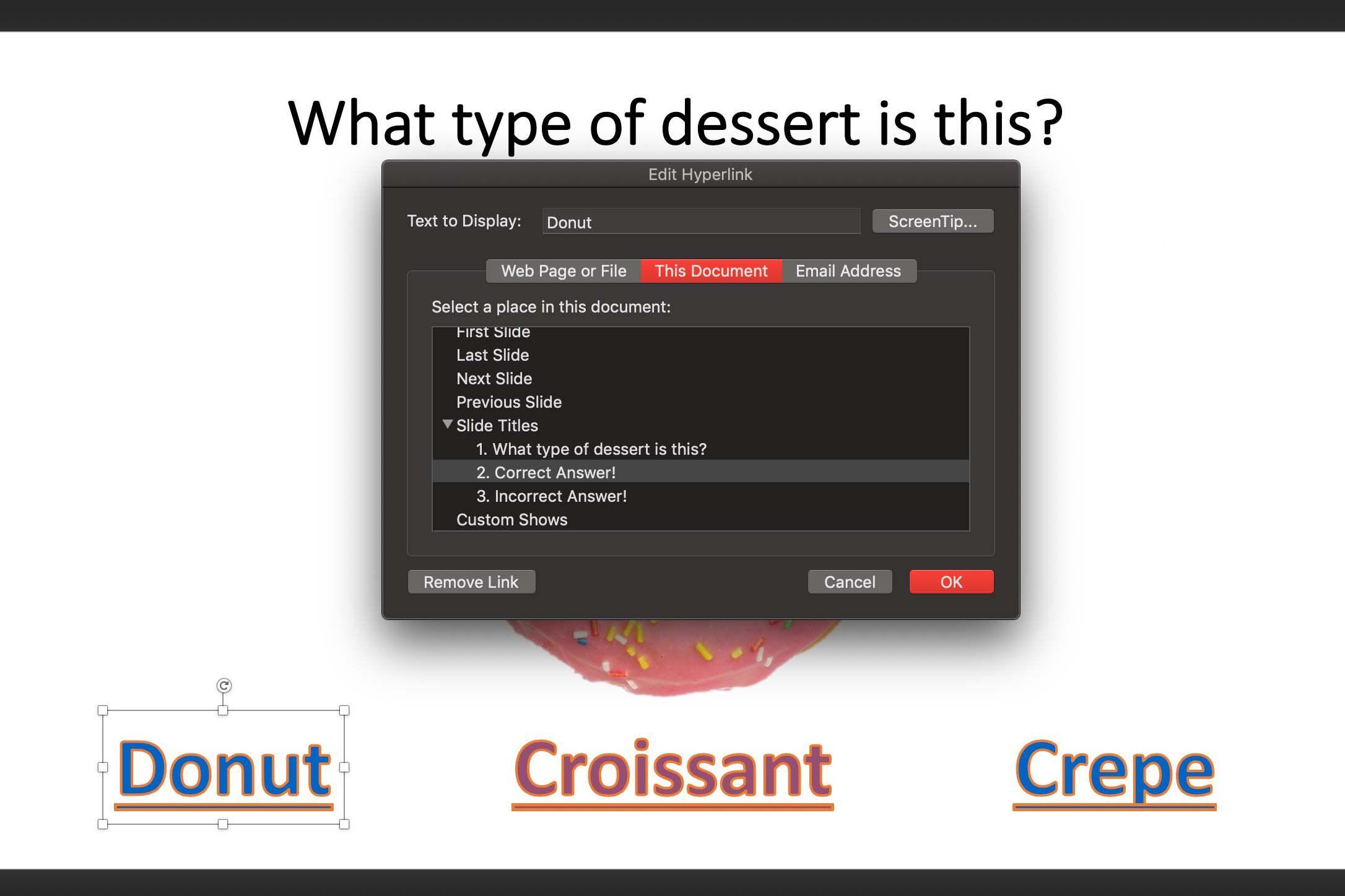 Add Hyperlinks to Slides