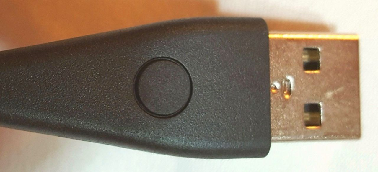 Fitbit Alta charger button