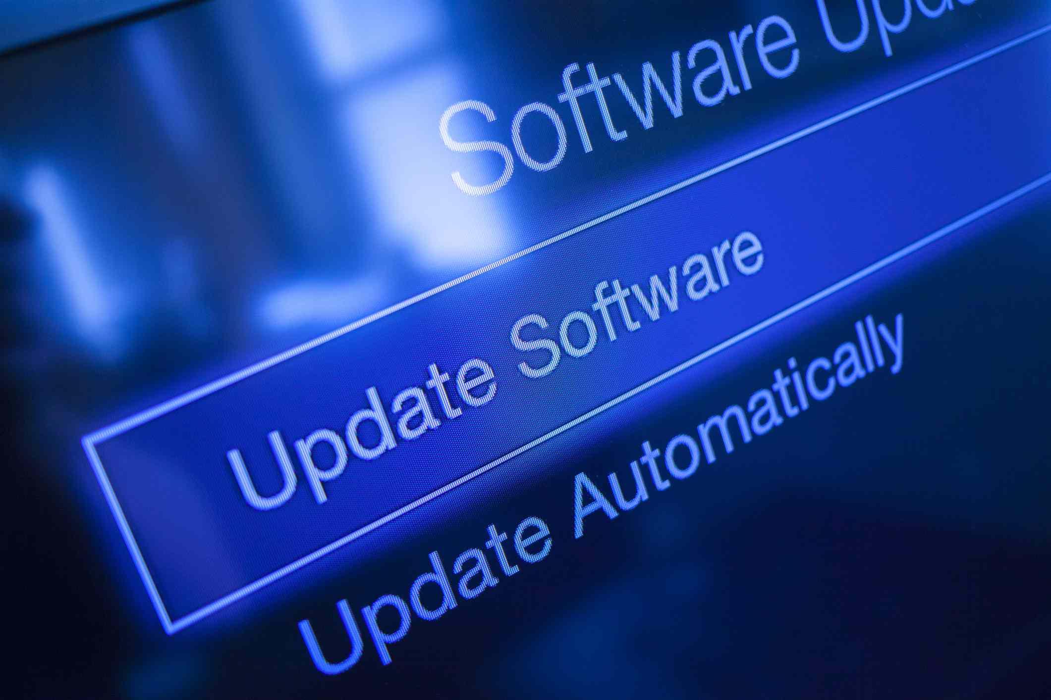 Software Update Screen