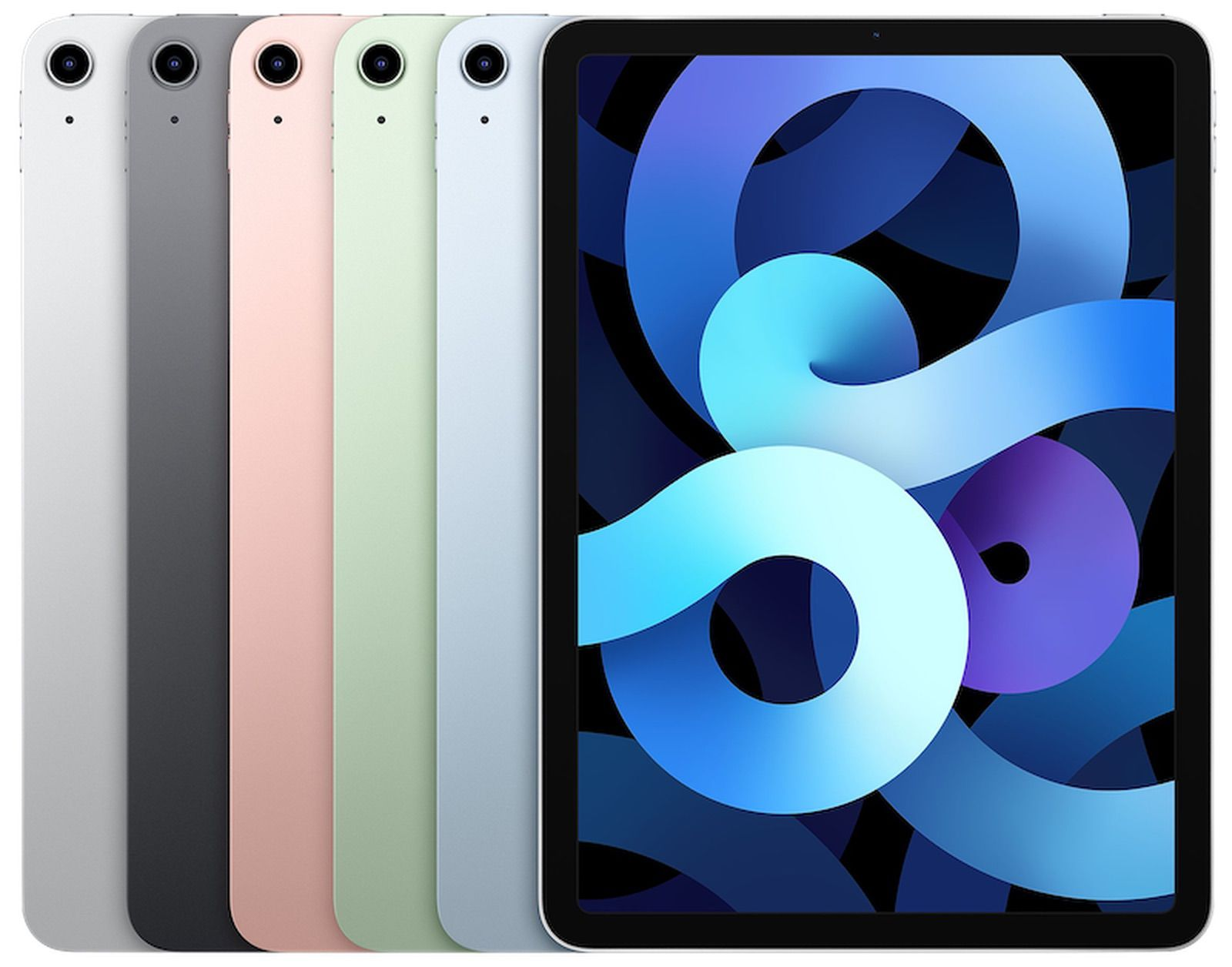 Apple's iPad Air 4 in a variety of colors