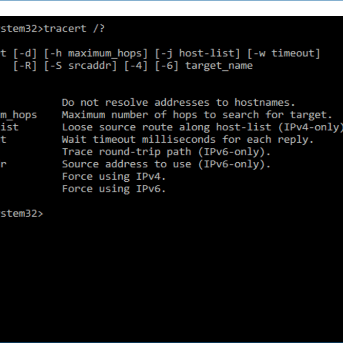 Tracert Command (Examples, Options, Switches, and More)