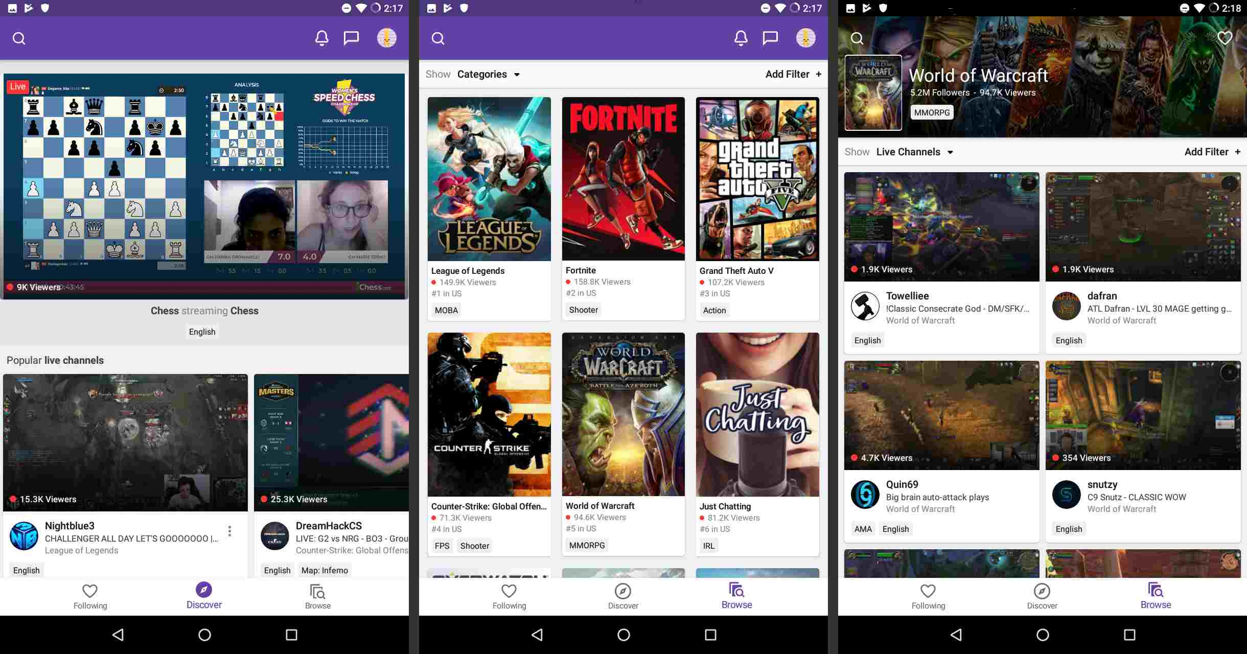 Twitch on Android