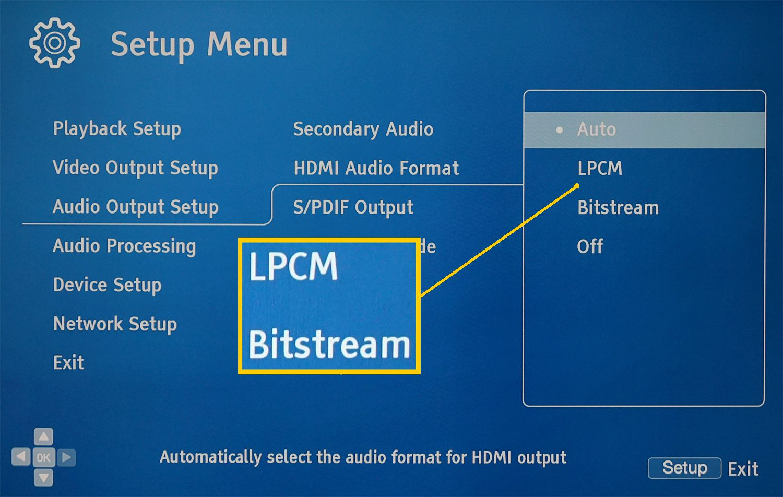 Blu-ray Disc Player Audio Settings – Bitstream vs PCM