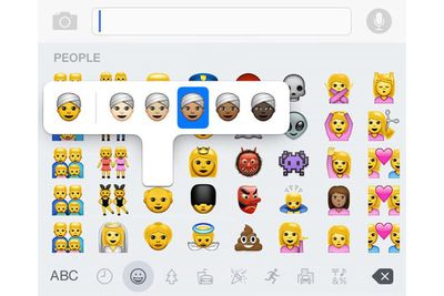 Multicultural emoji for iOS