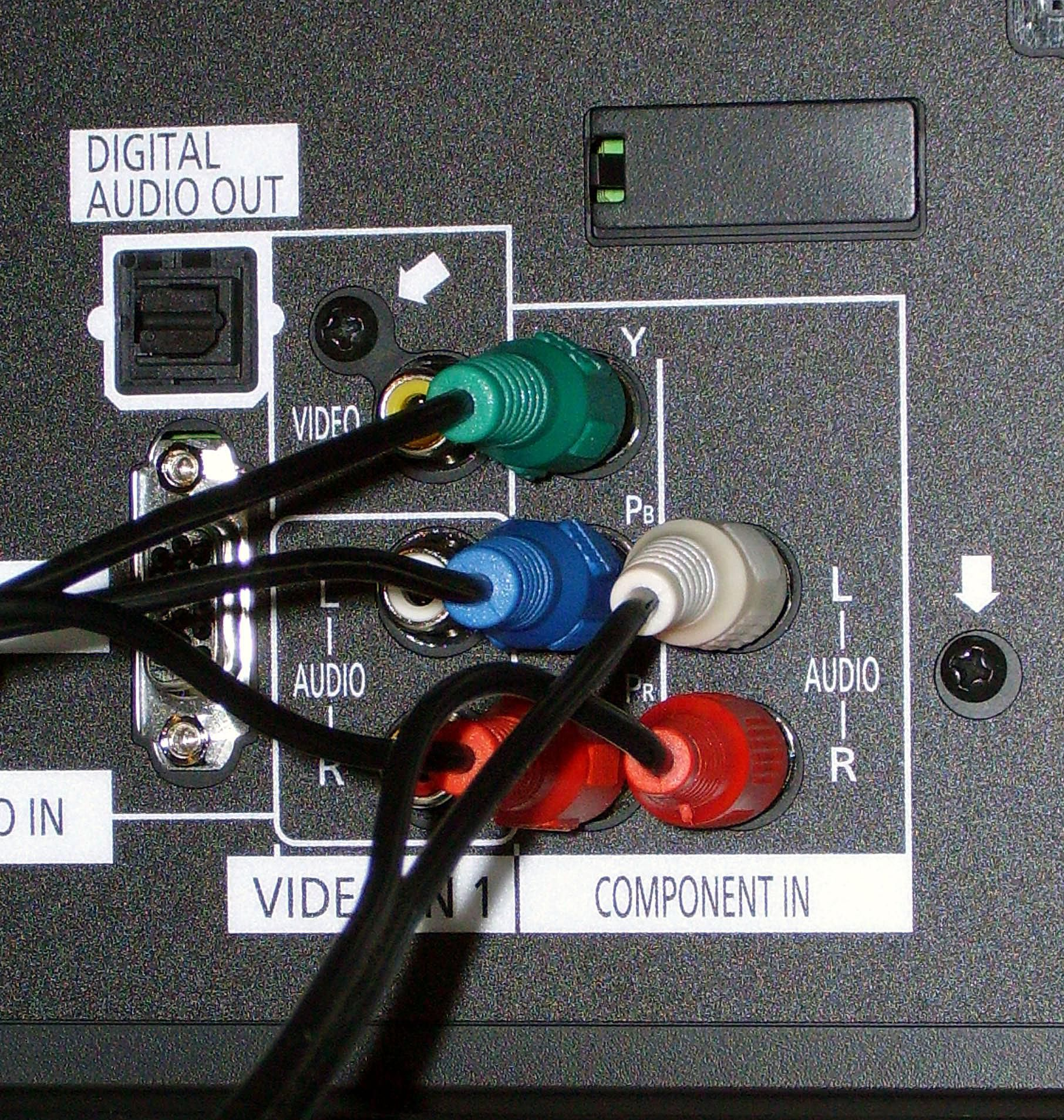 Carefully plug your cable (or cables) into your television.