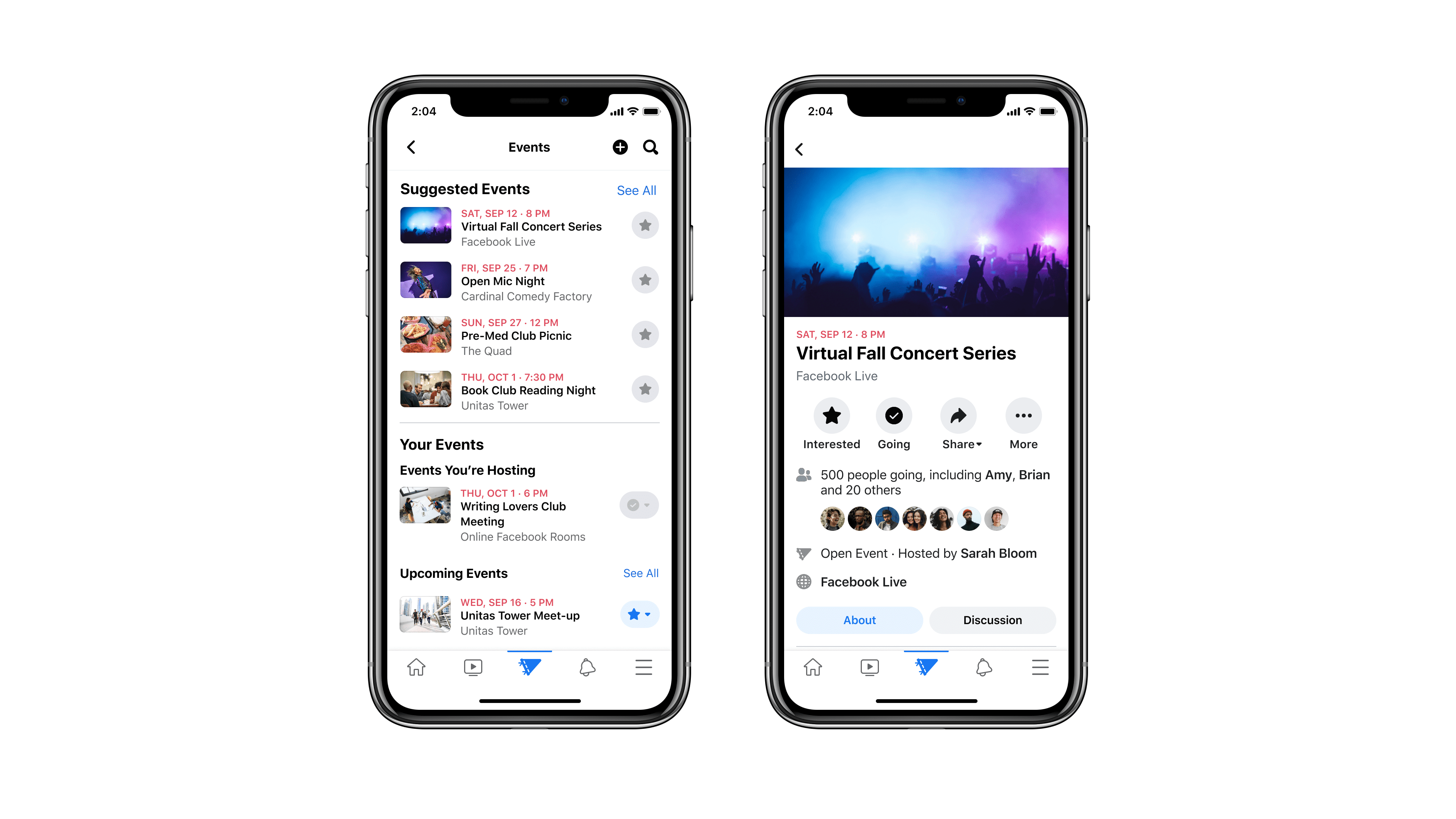 Facebook Campus' events planning feature