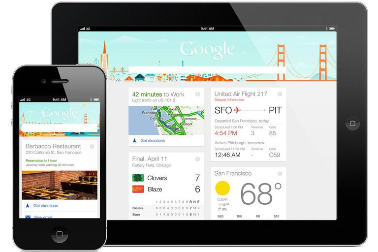 Google Now on Android devices.