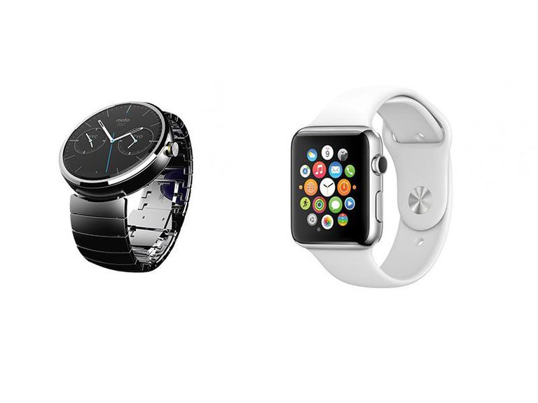 Motorola and Apple watches
