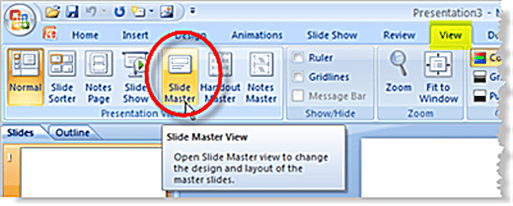 How To Use Slide Masters In Powerpoint 2007