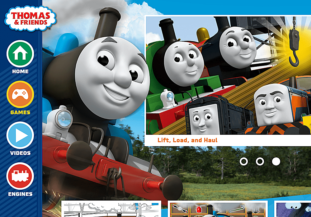 Picture of free online kids games at Thomas & Friends