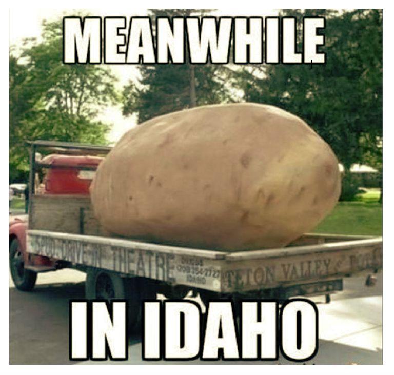 Meanwhile in Idaho meme