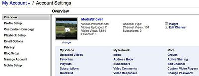 YouTube Account Overview