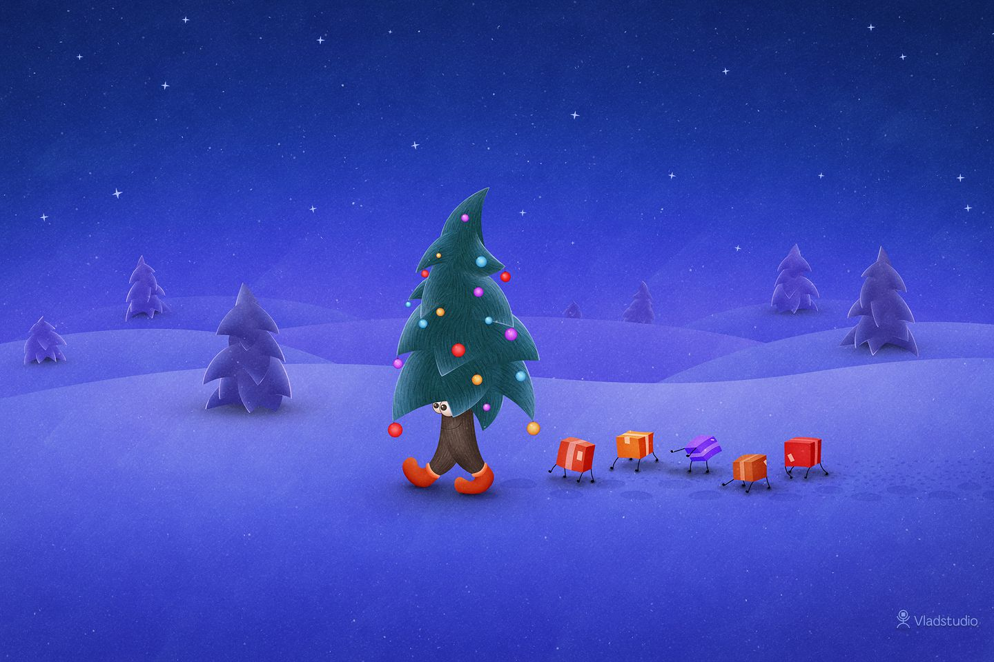 Christmas Desktop Wallpaper For Mac Windows And Linux