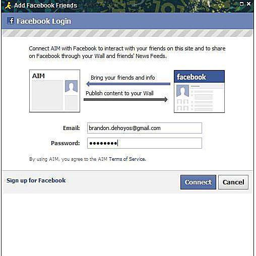 www gmail facebook login
