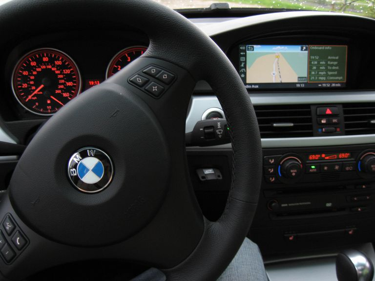 Interior of bmw display of idrive