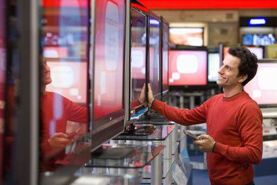 Man buying a TV