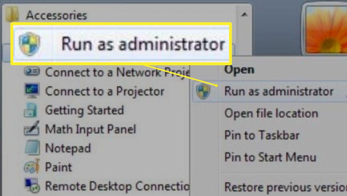 Right-click Command Prompt